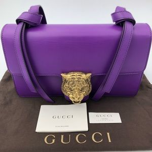 Gucci Women's Metallic Animalier Leather bag !